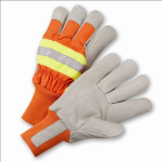 West Chester HVO1555 High-Visibility Grain Pigskin Leather Palm Thinsulate® Lined Gloves