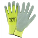 West Chester HVY713SUTS Touch Screen Hi Vis Yellow PU Palm Coated Nylon Gloves