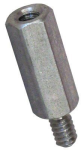 "1/4"" Hex Male-Female Steel Zinc Clear Standoffs"