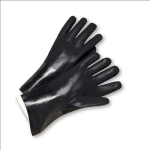 West Chester J1017RF Standard Rough PVC Jersey Lined Black Gloves