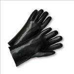 "West Chester J1027 Standard Smooth Black PVC Jersey Lined 12"" Gloves"