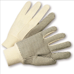 West Chester K01PDI Premium 10 oz. Cotton Canvas with PVC Dots Gloves