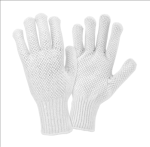 West Chester K708SKBSW White on White PVC Dotted Both Sides String Knit Gloves