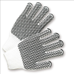 West Chester K708SKHW Black PVC Honeycomb Grip String Knit Gloves