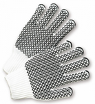West Chester Black PVC Honeycomb Grip White Cotton/Polyester String Knit Gloves