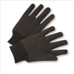 West Chester KBJ9PDI 10 oz. Brown Jersey Dotted Gloves