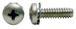 Phillips Pan External Sems Machine Screw Fully Threaded Zinc And Bake