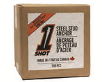 1Shot™ Steel Stud Anchor - 250 Count