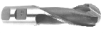 End Mill Single End Ball, 2 Flute High Speed Steel