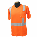 Short Sleeve Orange Class 2/ Birdseye V neck