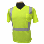 Short Sleeve Lime Class 2/ Birdseye V neck