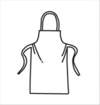 "West Chester U2500 Heavy Weight SBP White Apron - 28""x36"""