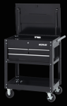 Specialty Series 3-drawer Utility Cart in black finish