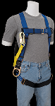 Gemtor VP102-2 Harness with Hip D-rings and Attached Energy Absorbing Lanyard, 6 Ft