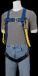 Gemtor VP101-2 Harness with Attached 100% Tie-Off Energy Absorbing Lanyard, 6 Ft