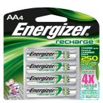 Energizer® 4 Pack - Recharge® Rechargeable AA Batteries