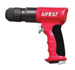 "Aircat 4338 AIRCAT 3/8"" Red Reversible Drill Comp w/ Jacobs Chuck"