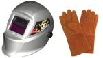 "Astro Pneumatic 8075SE Solar Auto-Darkening Welding Helmet with FREE 13.5"" Leather Welding Gloves"