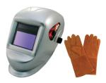 "Astro Pneumatic 8077SE Deluxe Solar Auto-Darkening Welding Helmet with FREE 13.5"" Leather Welding Gloves"