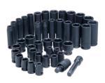 "ATD 4601 42 pc. 3/8"" Dr. 6-Point SAE and Metric Standard and Deep Impact Socket Set"