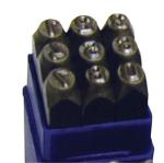 "ATD 9603 9 pc. 1/4"" Steel Figure Stamp Set"