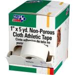 "Athletic Tape, Non-Porous Cloth, 1"" x 5 yd, 10 Rolls/Box"