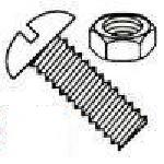Slotted Round Head with Nuts Steel Zinc Plated Machine Screw Kit