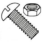 Slotted Round Head 18/8 Stainless Steel Machine Screws & Nuts Kit