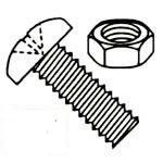 596 Pieces Phillips Pan Head with Nuts Steel Zinc Plated Machine Screws Kit