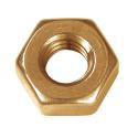 Brass Finish Hex Nuts 1/2-13