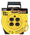 25ft 16/3 SJT Yellow Cord Caddy w/4 Outlets
