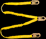 Gemtor D1101LY6 (2) Decelerator energy absorbing lanyards with #5155 locking snaphooks at each of the three ends. 6 ft.