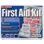 21-Piece Travel First Aid Kit, Plastic