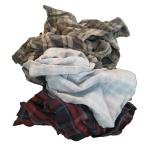 Flannel Wiping Rags, 25 Lb Box