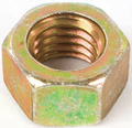 SAE Fine Thread Zinc Yellow Plated Grade 8 Steel Made in USA Finish Hex Nut