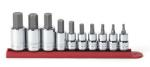 "KD Tools 80579 10 pc. 3/8"" and 1/4"" Dr. SAE Hex Bit Socket Set"