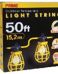 50ft. 12/3 SJTW Yellow 5-Light U-Ground Light String w/ Plastic Cages