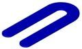 Horse Shoe Shim 1/16 x 1-1/2 x 3-1/2, BLUE Plastic (Case of 1,000)