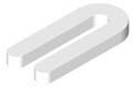 Horse Shoe Shim 3/8 x 1-1/2 x 3-1/2, WHITE Plastic (Case of 500)