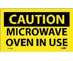 CAUTION MICROWAVE OVEN IN USE LABEL