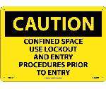 CAUTION CONFINED SPACE SIGN