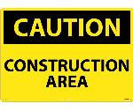 LARGE FORMAT CAUTION CONSTRUCTION AREA SIGN