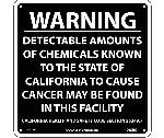 WARNING DETECTABLE AMOUNTS OF CHECMICALS CALIFORNIA  PROPOSITION 68