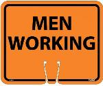 SAFETY CONE MEN WORKING SIGN
