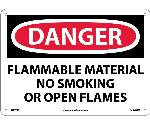 DANGER FLAMMABLE MATERIAL SIGN