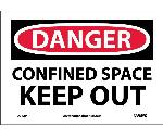 DANGER CONFINED SPACE KEEP OUT SIGN