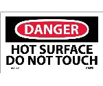 DANGER HOT SURFACE DO NOT TOUCH LABEL