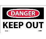 DANGER KEEP OUT LABEL