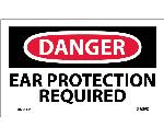 DANGER EAR PROTECTION REQUIRED LABEL
