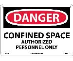 DANGER CONFINED SPACE AUTHORIZED PERSONNEL ONLY SIGN